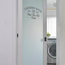 frosted glass etched laundry room door