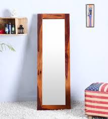 magnolia rectangular full length mirror in solid wood frame by satyam international full length mirrors wall art wall art pepperfry