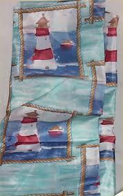 shower curtain lighthouse fabric hooks bathroom home decor new