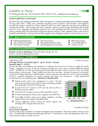 Sales And Marketing Resume Templates Resume Samples For Marketing And Sales Krida 20