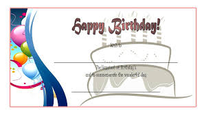 microsoft word birthday coupon template birthday gift certificate 5 the best template collection
