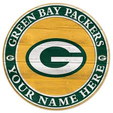 green bay packers personalized wooden sign