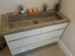 concrete countertops bathroom vanity
