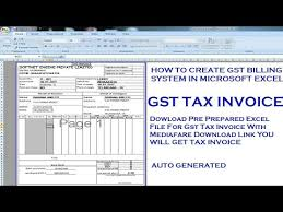 Ms Excel Invoice How To Create Gst Tax Invoice In Excel New Gst Invoice Format Excel Gst Bill Format