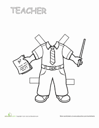 52061464821132f4776c5104d86f945d second grade paper dolls worksheets teacher paper doll 2 on worksheet teacher