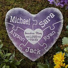 engraved garden stones. Buy Personalized Garden Stones With Our Heart-shaped Together We Make A Family Design And Add Up To 8 Names. Free Personalization \u0026 Fast Shipping. Engraved N