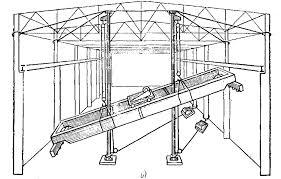 Монтаж мостовых кранов Реферат Рис 2 1 Схемы монтажа мостовых кранов 1 ванты 2 мачта 3 мост с тележкой