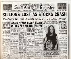 best stock market crash leads to great depression images  this is a newspaper that was published after the stock market crashed this shows us that people s lives had changed in a very bad way