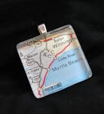 map tile necklace
