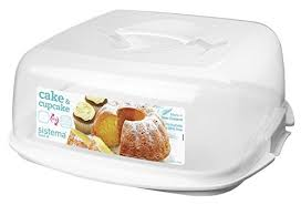 Cheap Sistema Bake It Cake And Cupcake Storer With Reversible Tray