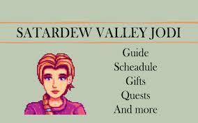 stardew valley gift guide jodi edition