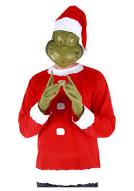 the grinch baby costume. Plain Baby Adult Grinch Costume Top Hat And Half Mask On The Baby