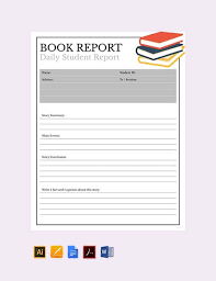 Book Report Template Free 8 Book Report Examples Samples In Doc Pdf Ai