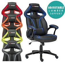 office bucket chair. gtforce roadster 1 sport racing car office chair leather adjustable lumbar support gaming desk bucket