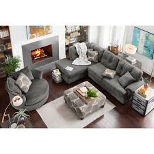 Value City Living Room Sets For The Man Cave Destin Gray Upholstery Collection Value City