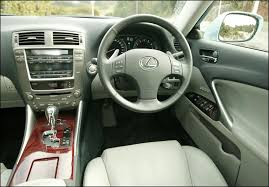 2007 lexus is 250 interior. interior space wise the is250 is not huge but comparable to a bmw 3series pews upfront are comfy and never feel cramped steeply raked 2007 lexus 250