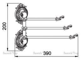 <b>Полотенцедержатель Hayta</b> Gabriel 13930-3/ VBR Antic Brass ...