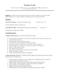 Daycare Teacher Resume Resume Cv Cover Letter
