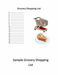 Shopping List Template | Word Templates | Ready-Made Office Templates