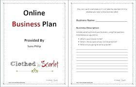 Free Online Business Plan Template Online Store Business Plan Template Business Plan Template Free