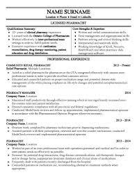 Pharmacist Resume Careers Redesigned