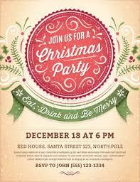 Retro Christmas Party Invite Stock Vectors Royalty Free