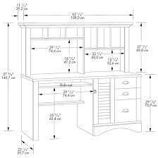 sauder harbor view computer desk with hutch salt oak harbor view collection computer desk with hutch
