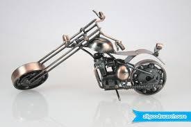scrap metal art handmade nuts and bolts chopper motorbike gift