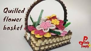 Paper Quilling Flower Baskets How To Make Quilling Flower Basket Paper Quilling Basket Paper