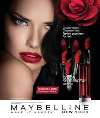 adriana lima maybelline new york cosmetics adver photographed by kenneth willardt makeup poster makeup