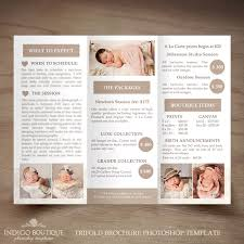 Photography Pricing Template Newborn Photography Trifold Brochure Template Client Welcome Guide