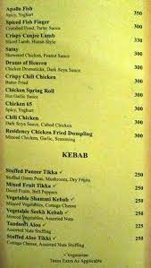 Want other options you can book now? Menu Of Melange Capitol Residency Kanka Ranchi Magicpin
