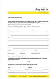Tenant Maintenance Request Form - Rent - Ray White Leading Edge Wa