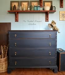 Painting Old Bedroom Furniture Vintage Chest Of Drawers Painted Black Furniture Vintage Detail