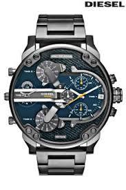 diesel watches for men next official site diesel® mr daddy denim dial watch