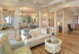 Beautiful ... Coastal Living Room Ideas Luminated Silky And White Comfortable Sofa  And Pattern Pillows Round Glass Table ...