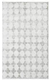 tanger kambal moroccan trellis silver area rug
