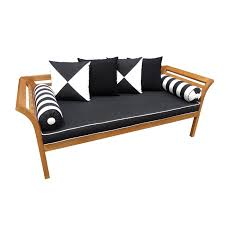 popular mimosa curved timber day bed with cushion i n 3191382 bunnings for daybeds decor