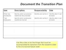 Career Transition Plan Template Employee Role Work Sample