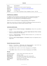 pdf of resume format for freshers resume format d it fresher