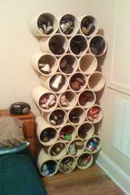 how to build a low cost shoe rack using pvc pipes macgyverisms wonderhowto