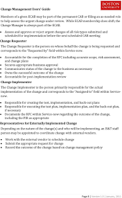 change management service excellence suite users guide service assess and approve or reject urgent changes of all risk types submitted and scheduled for implementation