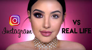 beauty ger amanda ensing shows the difference between insram makeup vs everyday makeup