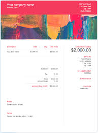 invoice template design free graphic design invoice template download now get paid easily