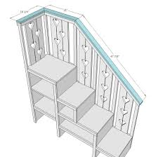 bunk bed with stairs plans. Bunk Bed With Stairs Plans Free | Ana White Build A Sweet Pea Garden Bunk  Bed Storage Stairs Free .