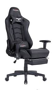 ficmax ergonomic high back large size office desk chair swivel black pc gaming chair with lumbar