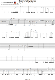 Guitar Solo Chart Comfortably Numb Guitar Solo Tab 1 In 2019 Guitar Tabs