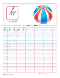 Cursive small letter b practice worksheet | Download Free Cursive ...