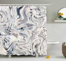 Japanese Shower Design Us 13 76 35 Off Apartment Decor Shower Curtain Japanese Marble Motif With Artisan Pigment Effects Interior Stucco Design Beige Grey In Shower