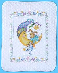 Stamped Cross Stitch Baby Quilts Adorable Crib Quilt Kit Welcome ... & stamped cross stitch baby quilts bunny quilt owls bedrooms . Adamdwight.com